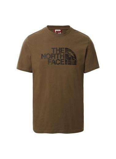 The North Face Erkek Tişört Woodcut Dome Nf00A3G137U1 Yeşil
